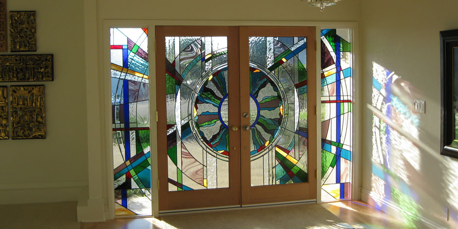 The Beveled Edge Art Gl Studio Custom Leaded Stained Etched Wrought Iron Doors And Windows